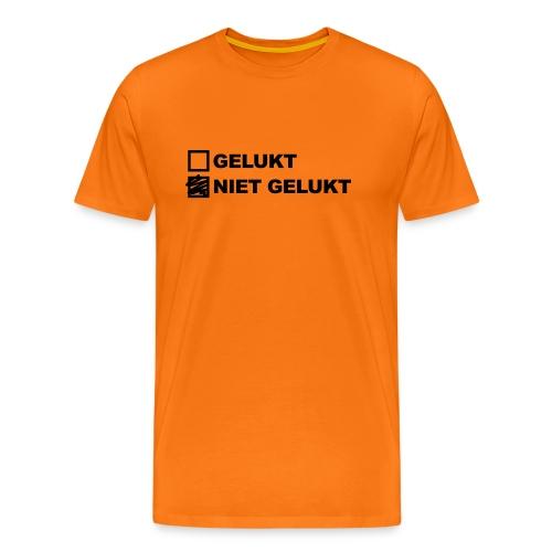 nietgelukt-gelukt - Mannen Premium T-shirt