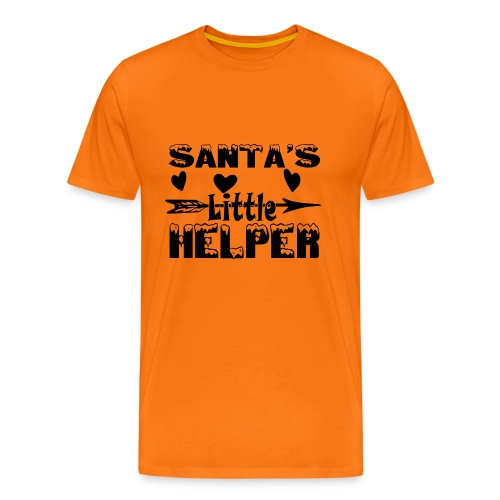 Santa s Little Helper Black - Männer Premium T-Shirt