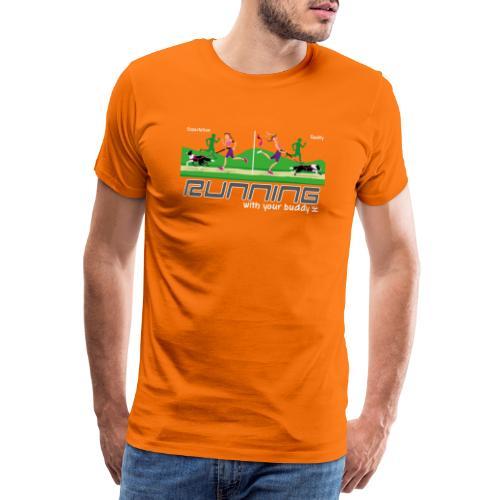 Running With your Buddy - Men's Premium T-Shirt