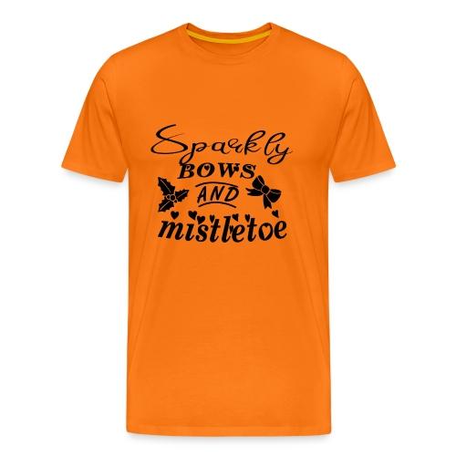 Sparkly bows and mistletoe Black - Männer Premium T-Shirt