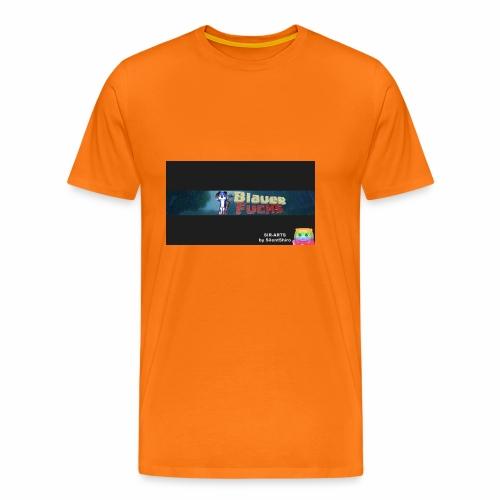 Minecraft Banner / BlauerFuchs - Männer Premium T-Shirt