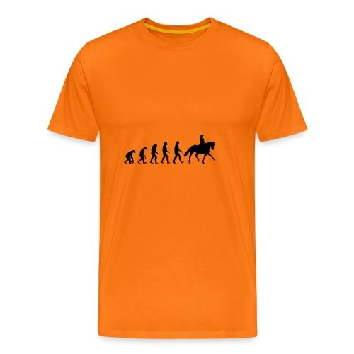 Evolution Of A Dressage Rider - Men's Premium T-Shirt