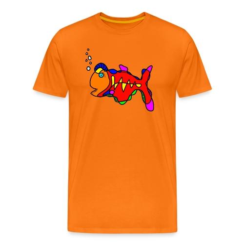 Tusche Fisch --- one line - Männer Premium T-Shirt