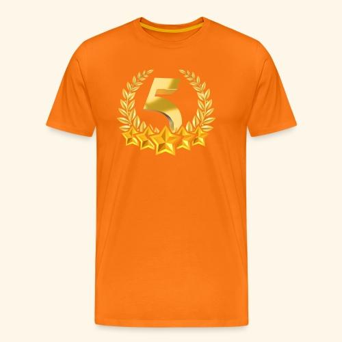 Fünf-Stern 5 sterne - Männer Premium T-Shirt