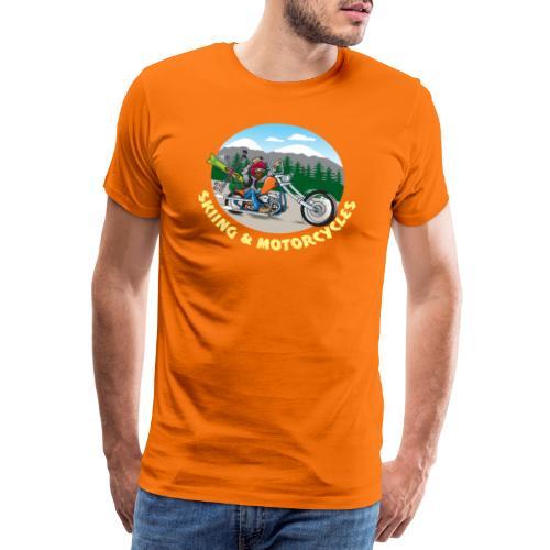 Skiing & Motorcycles - Miesten premium t-paita