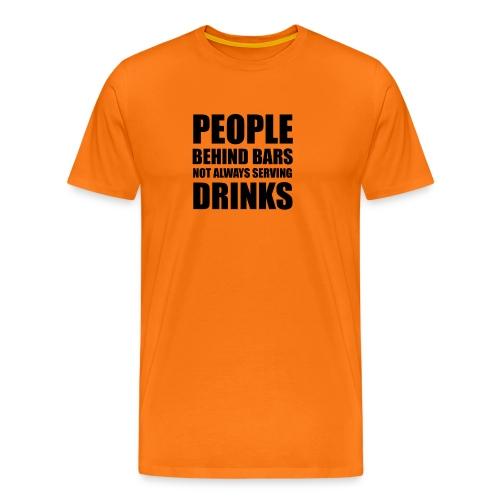 People behind bars - Premium-T-shirt herr