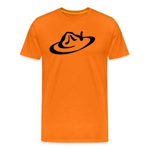 logo hoed - Mannen Premium T-shirt