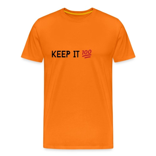 KEEP IT 100 ZWART png - Mannen Premium T-shirt