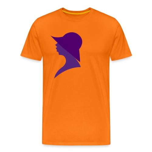 vrouw hoed - Mannen Premium T-shirt
