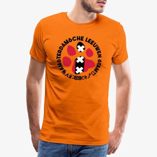 ALS witte cirkel lichtshi - Mannen Premium T-shirt
