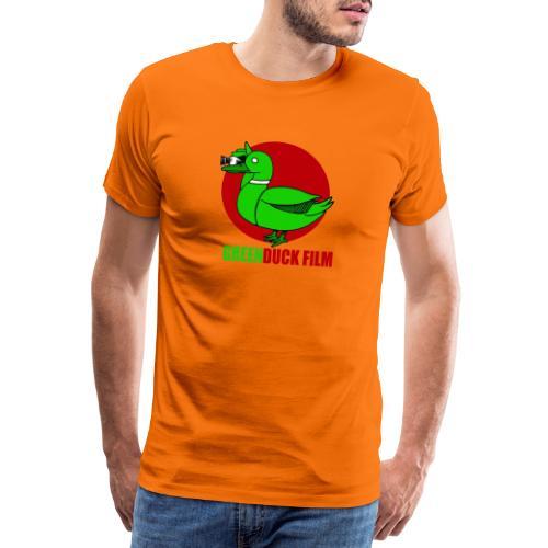 Greenduck Film Red Sun Logo - Herre premium T-shirt