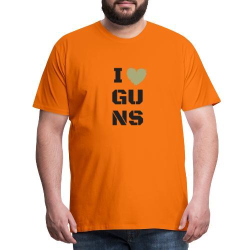 I LOVE GUNS - Koszulka męska Premium