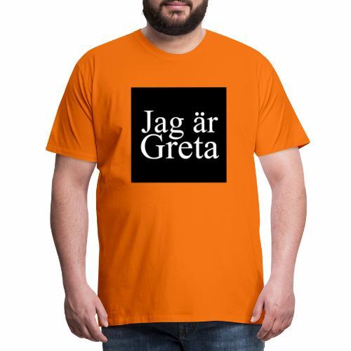 Button Greta - Männer Premium T-Shirt