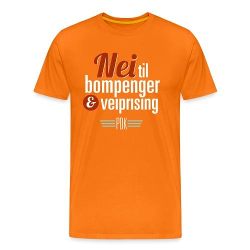 Bompenger pa oransje PDK - Premium T-skjorte for menn
