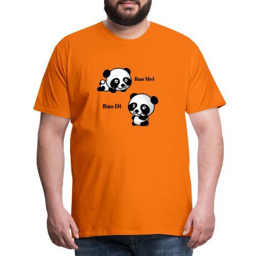 Bao Di Bao mei les petits pandas - T-shirt Premium Homme