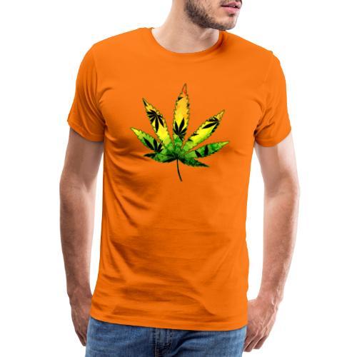Cannabis Marihuana Hanf Blatt / Sugar Leaf - Männer Premium T-Shirt