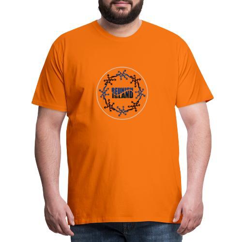 Badge Reunion Island Bleu - T-shirt Premium Homme