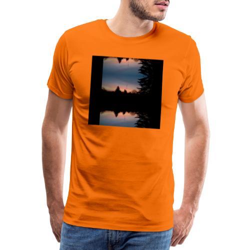 Sonnenhorizont Spiegelung Heller - Männer Premium T-Shirt