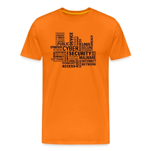 cyber security text print - Herre premium T-shirt