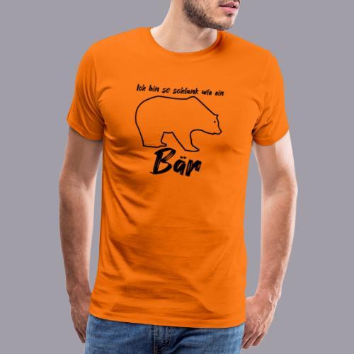 Ich bin so schlank wie ein Bär - Männer Premium T-Shirt