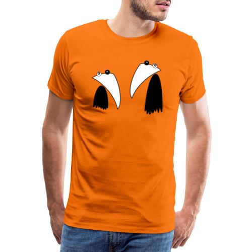 Raving Ravens - black and white 1 - Männer Premium T-Shirt