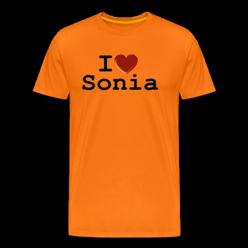 i love sonia - Koszulka męska Premium