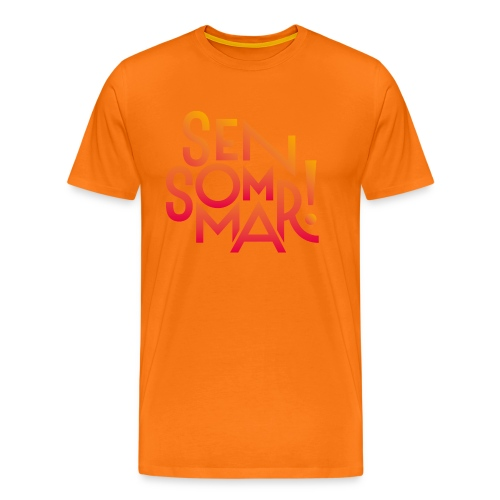 Sensommar T-shirt - Premium-T-shirt herr