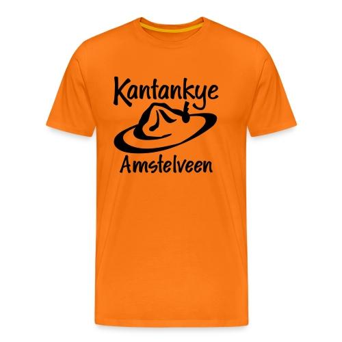 logo naam hoed amstelveen - Mannen Premium T-shirt