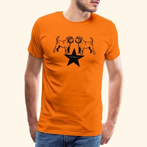 Brussels Griffon Logo - T-shirt Premium Homme