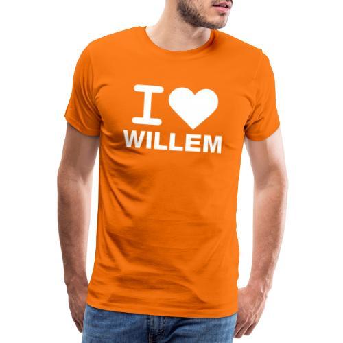 I LOVE WILLEM - Mannen Premium T-shirt