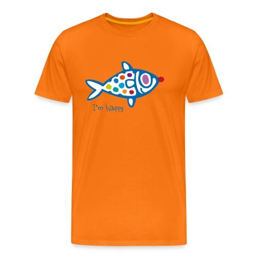 poisson HAppy - T-shirt Premium Homme