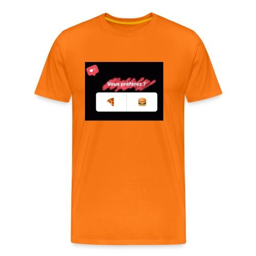 la pizza ou le hamburger choisissez votre camps PB - T-shirt Premium Homme