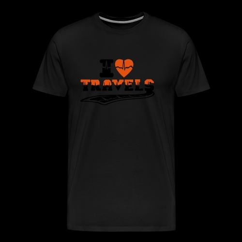 i love travels surprises 2 col - Men's Premium T-Shirt