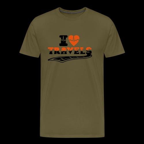 i love travels surprises 2 col - Men's Premium T-Shirt
