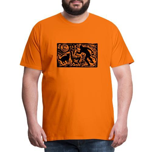 Teufel mit Katze - Männer Premium T-Shirt