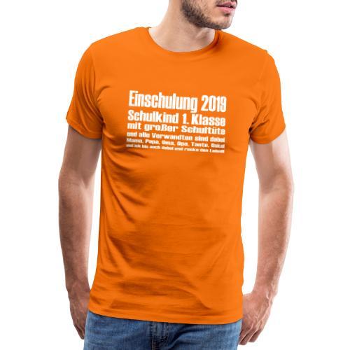 Einschulung 2019 - Männer Premium T-Shirt