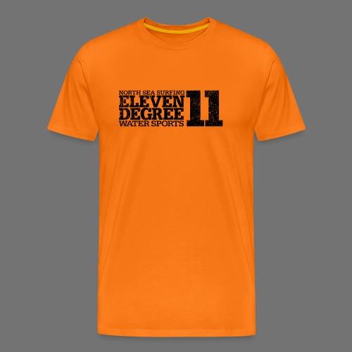jedenaście stopni czarny (oldstyle) - Koszulka męska Premium