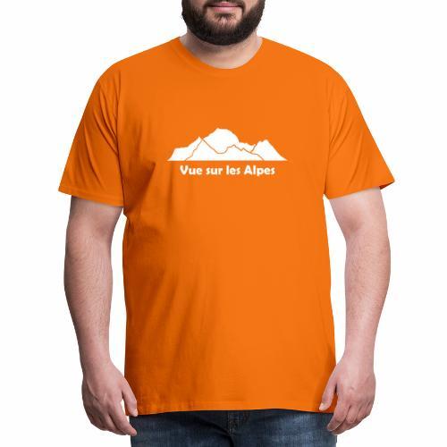 Vue sur les Alpes - T-shirt Premium Homme
