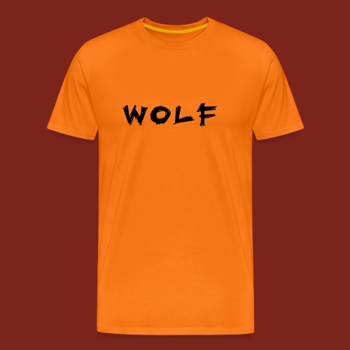Wolf Font png - Mannen Premium T-shirt