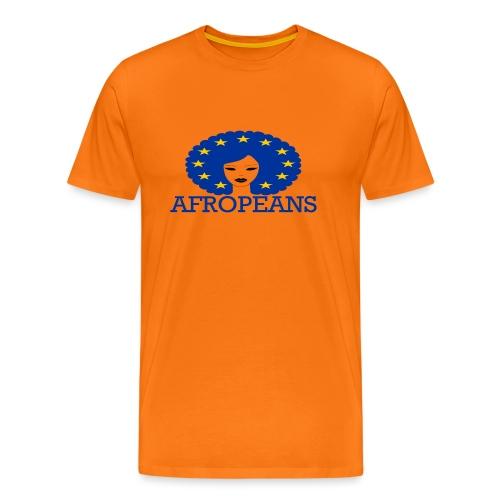Afropeans Blue - Mannen Premium T-shirt
