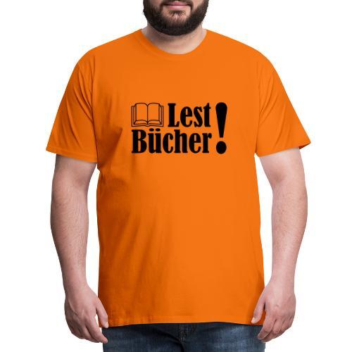 Lest Bücher ! 2 - Männer Premium T-Shirt