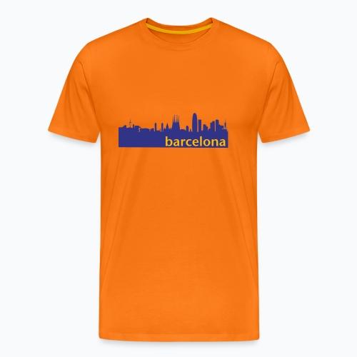 camisa con perfil de Barcelona - Camiseta premium hombre