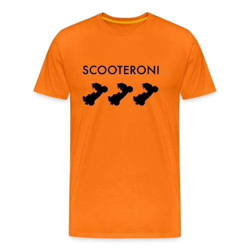 T-SHIRT SCOOTERONI BLACK - Maglietta Premium da uomo