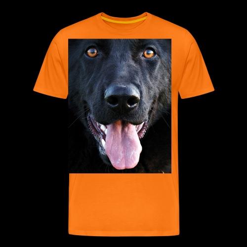 black-german-shepherd-lar - Men's Premium T-Shirt