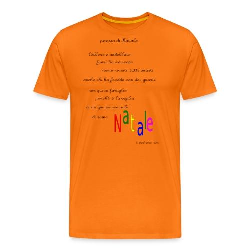 Poesia di Natale 2016 - Maglietta Premium da uomo