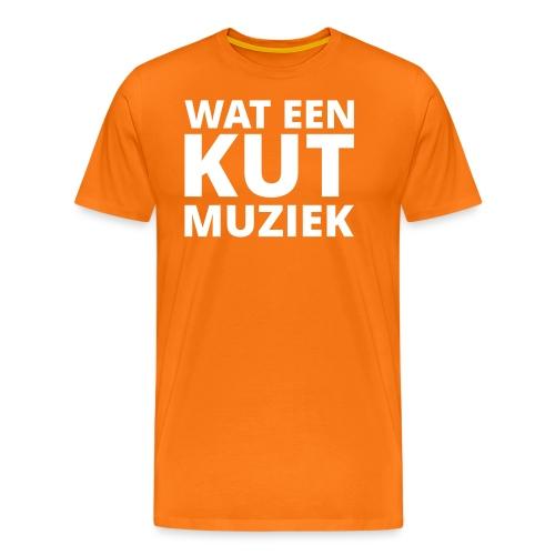 Wat een kutmuziek - Mannen Premium T-shirt