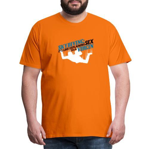 skydiving - Mannen Premium T-shirt