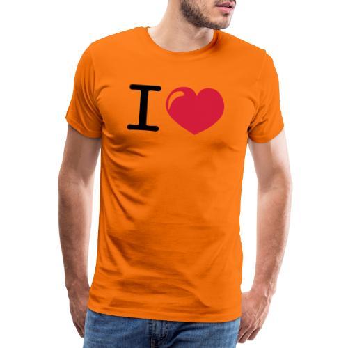 i love heart - Mannen Premium T-shirt