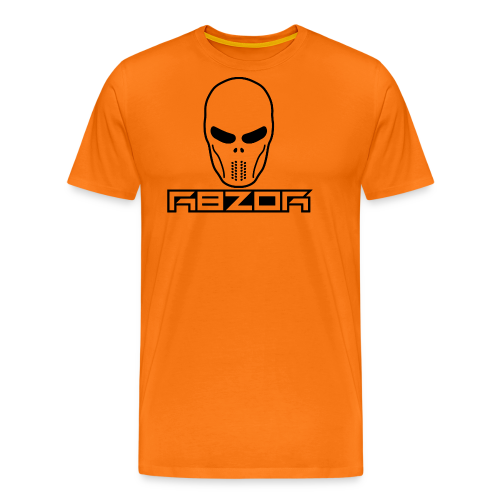 R8ZOR LOGO B/W - Men's Premium T-Shirt