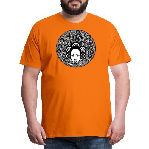 Afro hair woman - Men's Premium T-Shirt